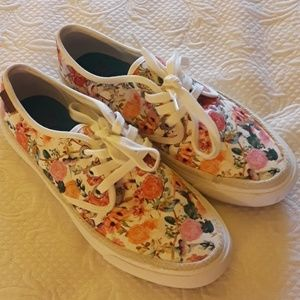 Blowfish floral with humming bird  tennis shoes